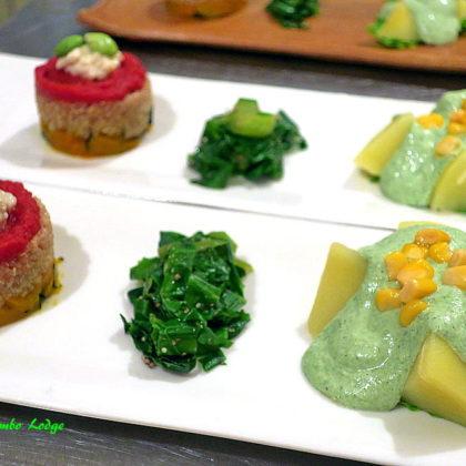 ペルー風前菜2種盛りのプレート