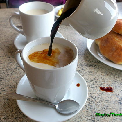 Huancayoのホテルで朝食