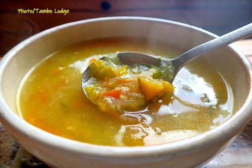 ペルー風雑穀入りスープ(Sopa de sémola)