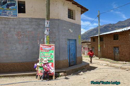 Mayobambaの村でランチ