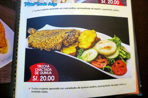 Ayacuchoの郷土料理レストラン「Sukre」
