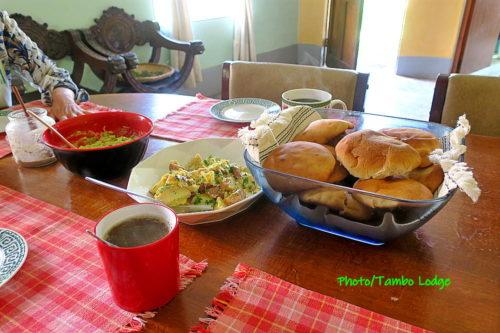 ゲストハウスの食事