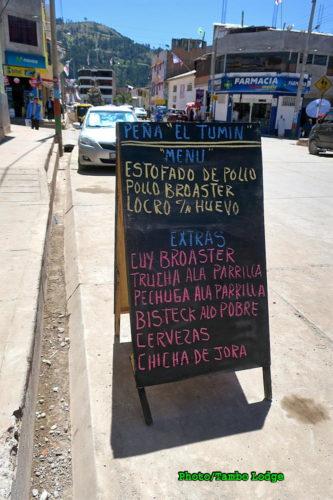 Uripaの町でランチを