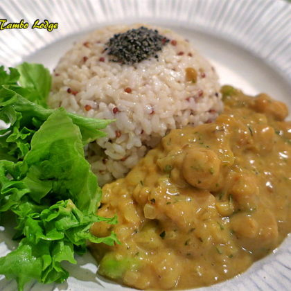 ペルー風鶏肉もどきのカレー風(Aji de gallina)