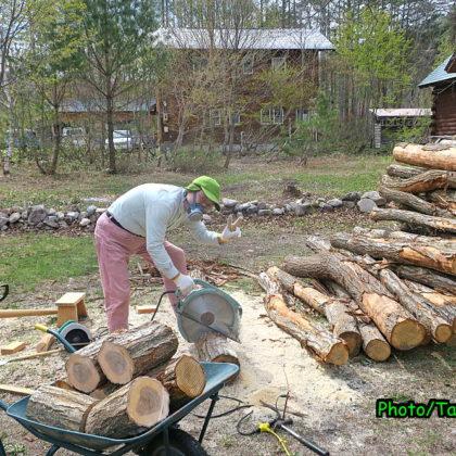 薪作り開始!!