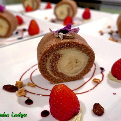 バナナのロールケーキ