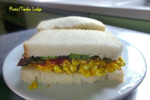 米粉パンのサンドイッチ