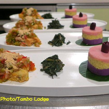 2色のペルー風マッシュポテト