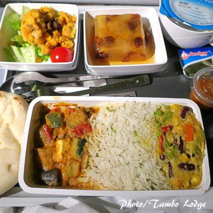 サンフランシスコまでの機内食