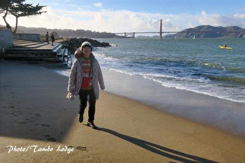 海岸とサンタクロース