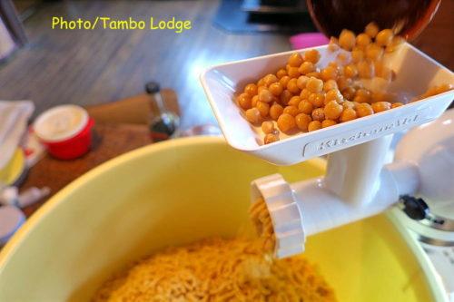 ひよこ豆味噌の仕込み