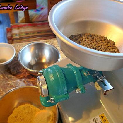 豆麹パウダー作り