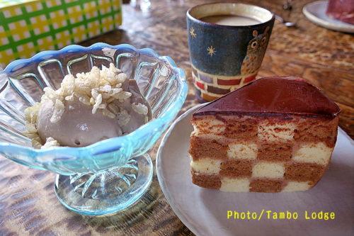 米粉のサンセバスチャン&バナナソフトクリーム