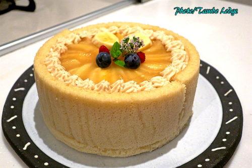 オーガニック白桃のムースケーキ