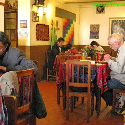 スークレのベジタリアンレストラン「El Germen」(1)