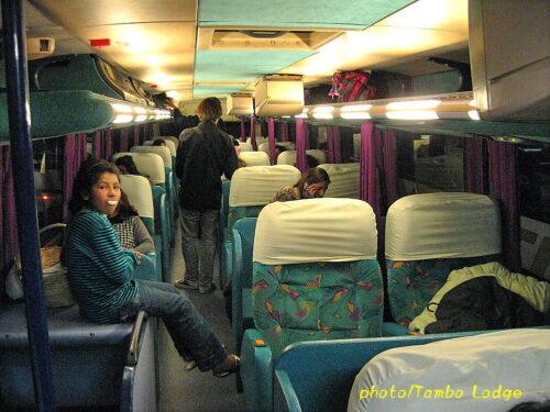 激寒の夜行バス