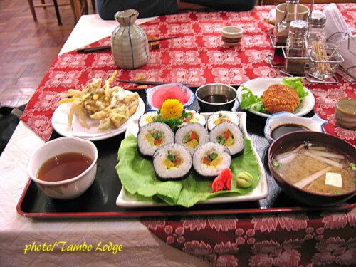 夕食は日本食
