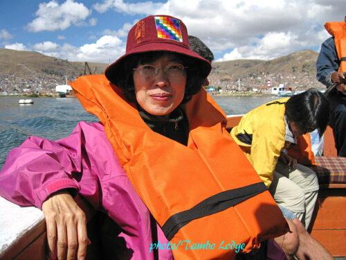 チチカカ湖の島「アマンターニ」へ