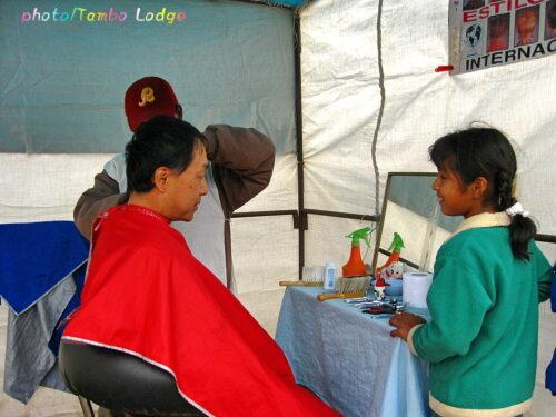 「Andahuaylas(アンダワイラス)」の日曜市(4)日曜市の床屋さん