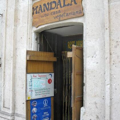 Arequipaのベジレストラン「Mandala」