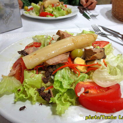 中世の町「Estella」での夕食