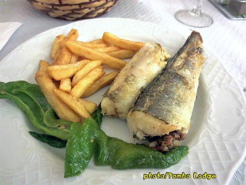 Navarreteのレストランで夕食をいただく