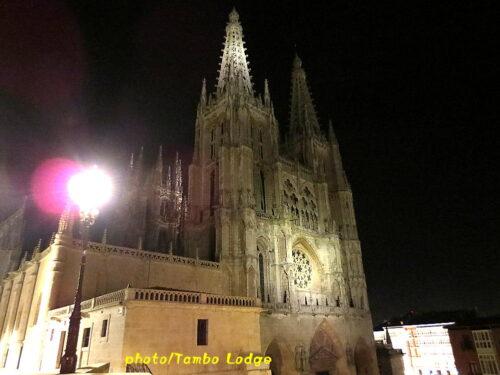 夜のBurgos大聖堂