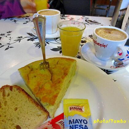 巡礼25日目 León滞在(2)ホテルの1階のBARで朝食