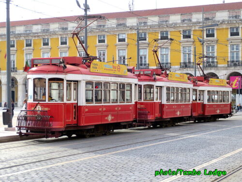 路面電車が走る町、Lisboaにて