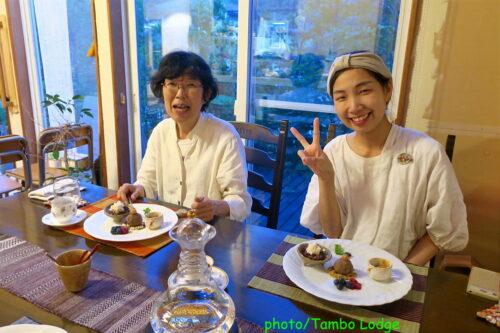 タンボ・ロッジの遠足その2「どすこい喫茶やまこ」のディナー