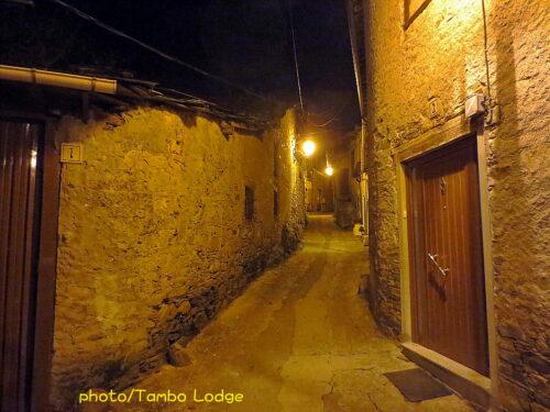 Villafranca del bierzoの夜の風景