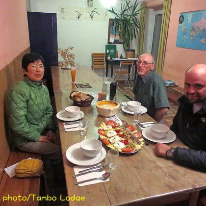 「Ruitelan」のアルベルゲでベジ食を