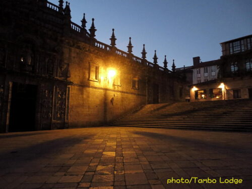 聖地Santiago de Compostelaの夕暮れ