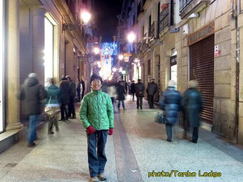 夜のSan Sebastián散歩