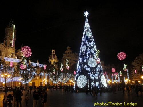 Valenciaのクリスマス・イルミネーション